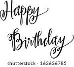 happy birthday | Shutterstock .eps vector #162636785