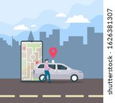 car sharing illustration...