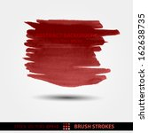 watercolor splashes of blood on ... | Shutterstock .eps vector #162638735