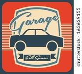 garage design over orange... | Shutterstock .eps vector #162639155