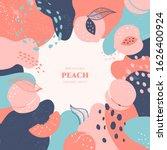 Vector Frame With Doodle Peach...