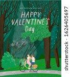 happy valentine's day  vector... | Shutterstock .eps vector #1626405697