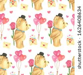 seamless pattern. valentine's... | Shutterstock . vector #1626408634