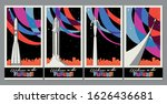 space propaganda poster set ... | Shutterstock .eps vector #1626436681