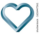 impossible twisted heart icon....   Shutterstock .eps vector #1626447361