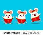 vector set of cute rat... | Shutterstock .eps vector #1626482071
