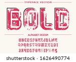 vector font.alphabet typeface... | Shutterstock .eps vector #1626490774