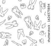 teeth seamless vector doodles... | Shutterstock .eps vector #1626575854