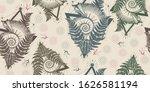 trilobites  ammonite and fern....   Shutterstock .eps vector #1626581194
