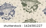 ufo and ancient egypt. seamless ... | Shutterstock .eps vector #1626581227