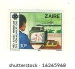 old zaire stamp | Shutterstock . vector #16265968