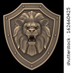 Lions Head Blazon. Bronze...