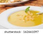 closeup of a bowl of butternut... | Shutterstock . vector #162661097