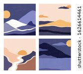 a set of landscapes in a square ... | Shutterstock .eps vector #1626614461