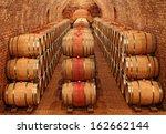 barrels in the cellar | Shutterstock . vector #162662144