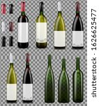 red and white wine bottles.... | Shutterstock .eps vector #1626625477