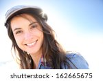 Portrait Of Woman With Hat On ...