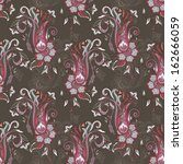 hand drawn paisley pattern.... | Shutterstock .eps vector #162666059