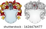 coat of arms knight emblem  1019 | Shutterstock .eps vector #1626676477