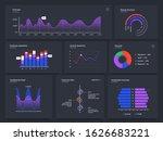 dashboard charts. infographic...