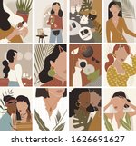 drawing of woman face  fashion ... | Shutterstock .eps vector #1626691627
