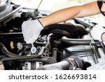 Mechanic Male  Worker Using ...