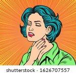 women with sore throat  fever ... | Shutterstock .eps vector #1626707557