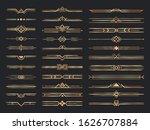 golden art deco dividers....   Shutterstock . vector #1626707884