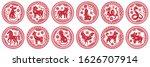 Round Chinese Zodiac Signs....