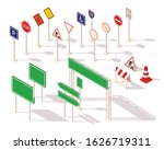set of different road signs... | Shutterstock .eps vector #1626719311