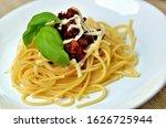Detail Of Spaghetti Bolognese...