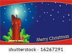 vector christmas candle for... | Shutterstock .eps vector #16267291