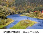 Poprad River In Autumn. View...