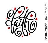 Faith Word Typography....
