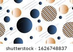 gold and blue luxury background ... | Shutterstock . vector #1626748837