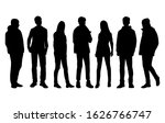 vector silhouettes of  men and... | Shutterstock .eps vector #1626766747