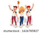 crowd of persons celebrate... | Shutterstock .eps vector #1626785827