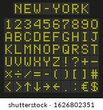 light yellow digital font ...   Shutterstock .eps vector #1626802351