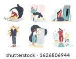 set of men and women with... | Shutterstock .eps vector #1626806944