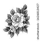 floral bouquet design  tattoo... | Shutterstock . vector #1626813427