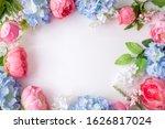 Flower Frame  Banner. Postcard...