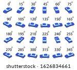 a set of 24 sedan car from...   Shutterstock .eps vector #1626834661
