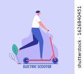 Active Man Riding Electric...