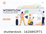 landing page template or... | Shutterstock .eps vector #1626842971