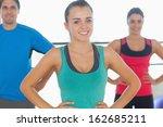 portrait of smiling people... | Shutterstock . vector #162685211