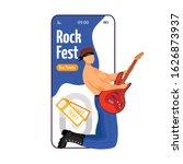 rock fest cartoon smartphone...