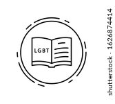 book  lgbt icon. simple line ...