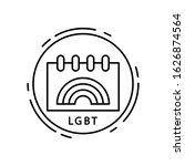 calendar  lgbt icon. simple...