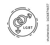 gay  lgbt icon. simple line ...
