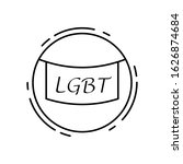 banner  lgbt icon. simple line  ...